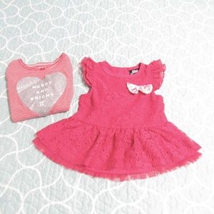 Other - Baby Girl Top & Dress Bundle sz 24Mos.